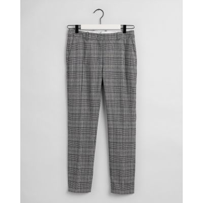 D1. CHECKED CLASSIC TAPERED PANT