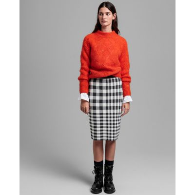 D2.CHECKED KNITTED SKIRT
