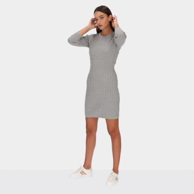 Stretch Cotton Cable Dress
