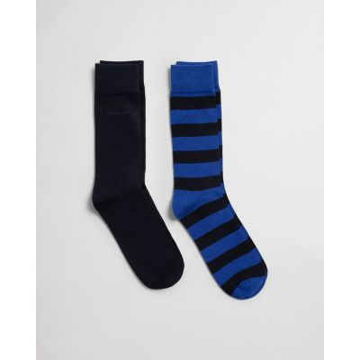 2-PACK BARSTRIPE AND SOLID SOCK